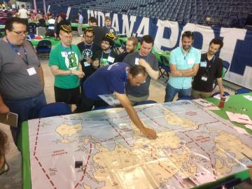 John helps with WTS military map control.