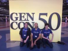 Shawn, John, and Ben take a moment to commemorate their time together at Gen Con 50.